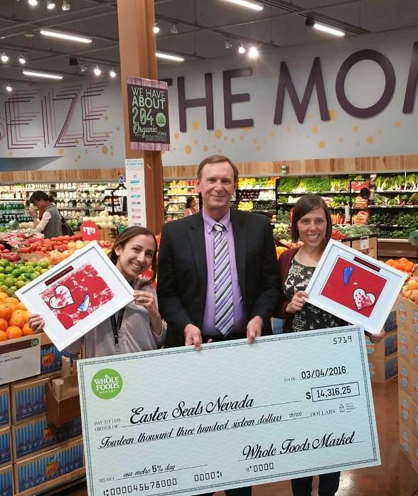Easter Seals Nevada Receives more than $14,000 from Whole Foods Market