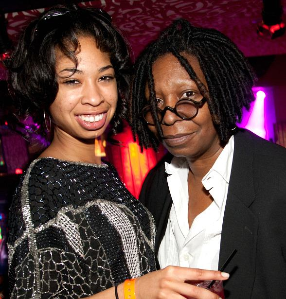 Whoopi Goldberg with granddaughter Amarah at TAO Las Vegas