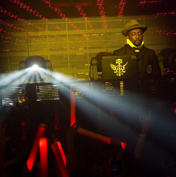 Will.I.Am performs at Marquee Nightclub in Las Vegas