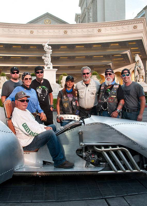 William Shatner Arrives at Caesars Palace as Part of 2500 Mile Cross-Country Journey to Raise Awareness for The American Legion Riders