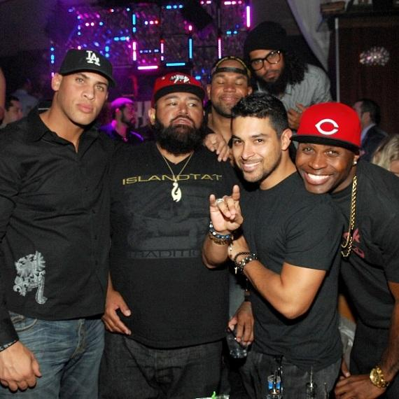 Wilmer Valderrama parties with friends at Hyde Bellagio, Las Vegas
