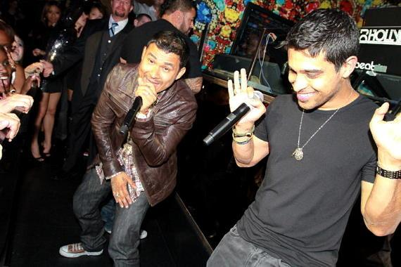 Wilmer Valderrama and Frankie J at Vanity