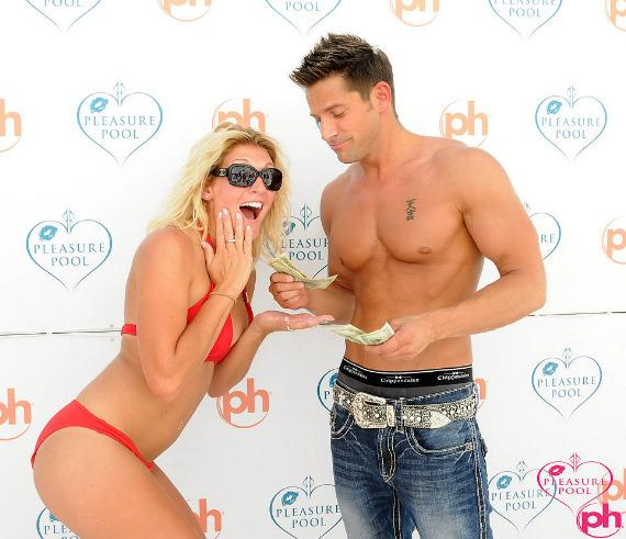 Bikini contest winner with Jeff Timmons