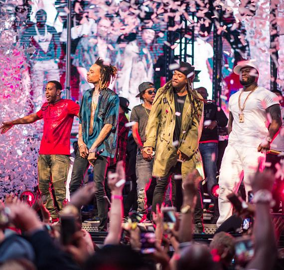 Wiz Khalifa, Ty Dolla $ign, Ludacris and 50 Cent Perform at the Official Billboard Music Awards After Party at Drai's Nightclub
