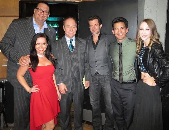 Kyle and Mistie Knight backstage with judges Penn & Teller, Jason Latimer and Cristen Gerhart