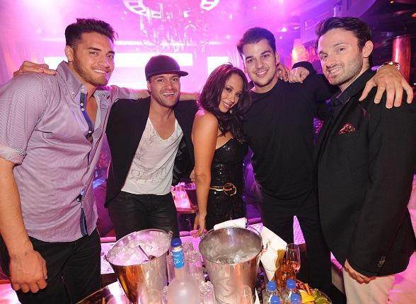 Usher, Ryan Seacrest, Julianne Hough, Ashley Benton, Rob Kardashian at XS Nightclub