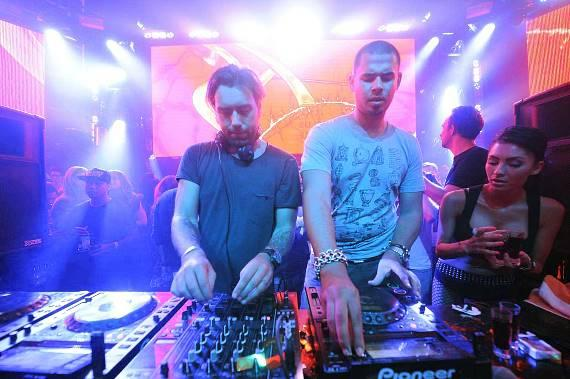 Sebastian Ingrosso and Afrojack at XS Nightclub
