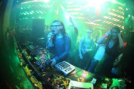Skrillex at XS Nightclub