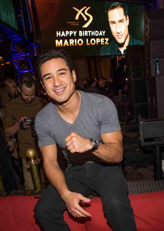 Mario Lopez celebrates 40th birthday at XS