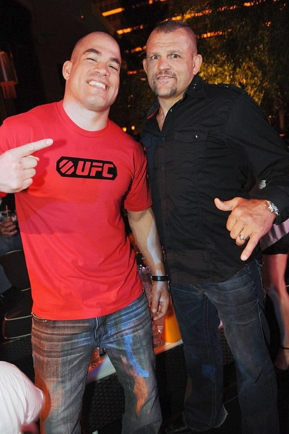 UFC fighter Tito Ortiz and former UFC champion Chuck Liddell at XS