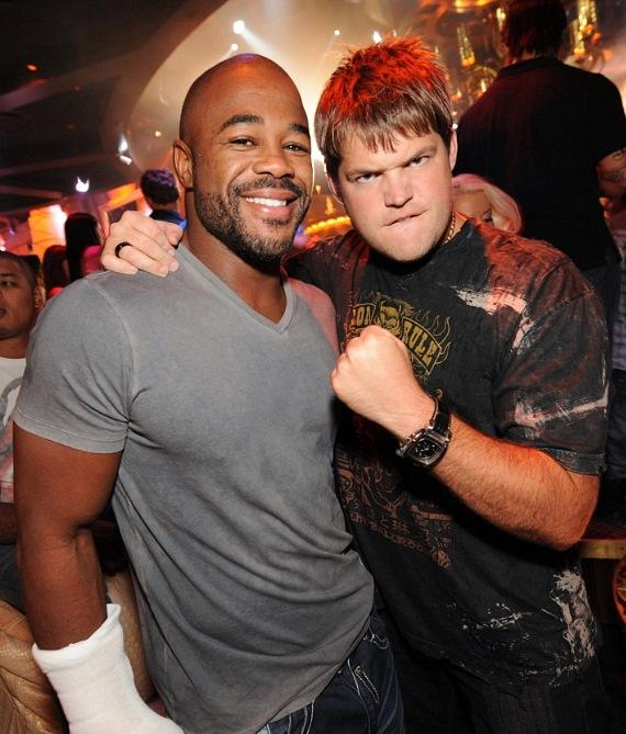 Rashad Evans and Jareb Dauplaise at XS Nightclub