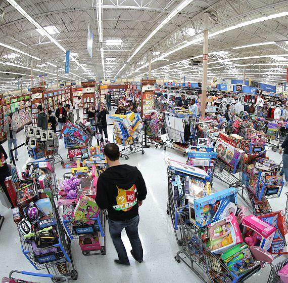 XS and Tryst Toy Drive shopping carts
