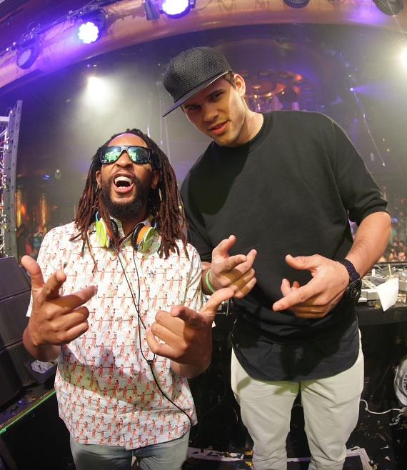 Lil Jon and Kris Humphries