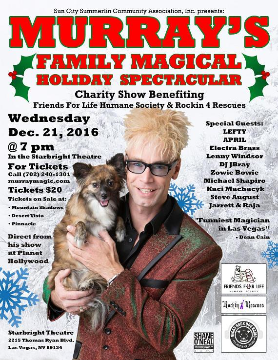MURRAY's Charity Christmas Show at Starbright Theatre Dec. 21, 2016