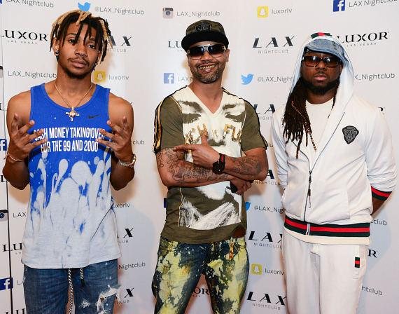 Young Juve, Juvenile, and Drae Jackson at LAX Nightclub inside Luxor Hotel and Casino