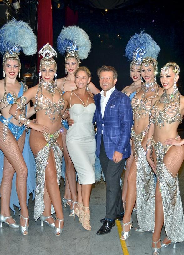 Robert Herjavec and Kym Johnson spotted at Jubilee at Bally's Las Vegas