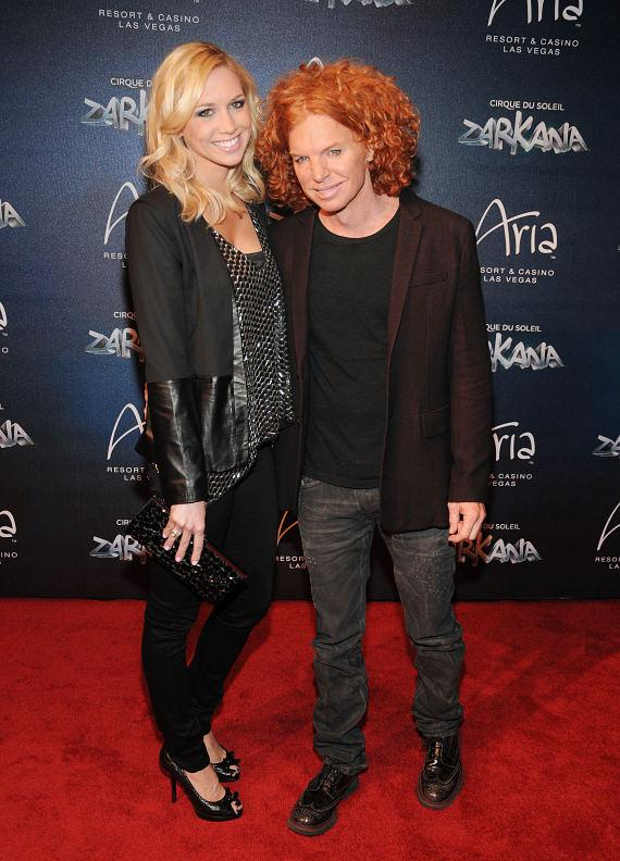 Amanda Hogan and Carrot Top