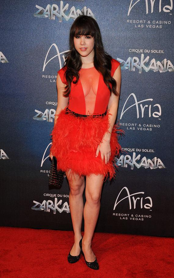 Claire Sinclair  at Las Vegas Premier of Zarkana by Cirque du Soleil
