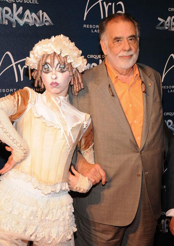 Zarkana cast member with Francis Ford Coppola