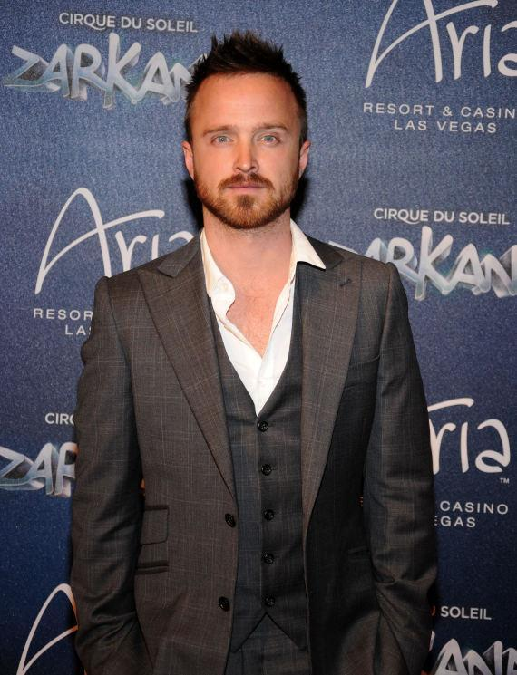Aaron Paul at Las Vegas Premier of Zarkana by Cirque du Soleil