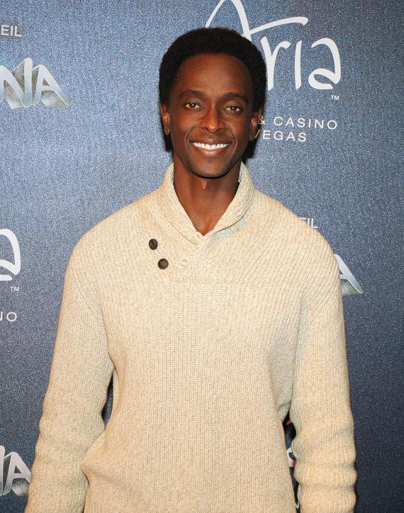 Edi Gathegi at Las Vegas Premier of Zarkana by Cirque du Soleil