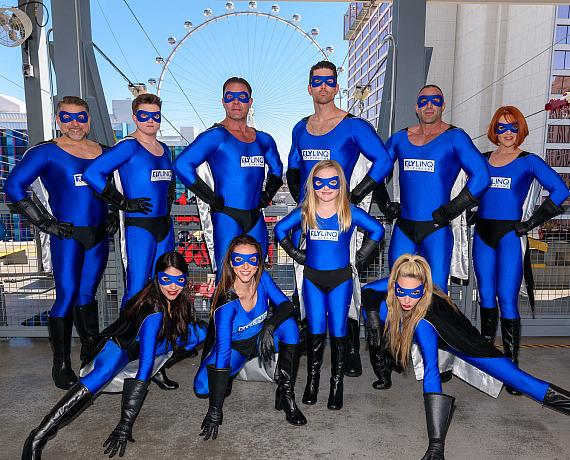 Zipline Superheroes celebrate the new year at FLY LINQ