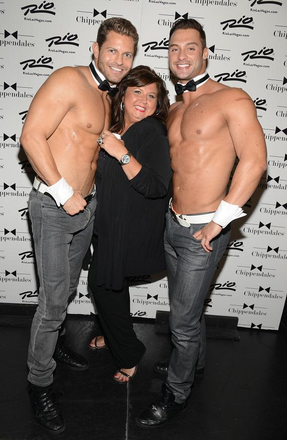 Abby Lee Miller of TV's 'Dance Moms' visits Chippendales at Rio All-Suite Hotel in Las Vegas