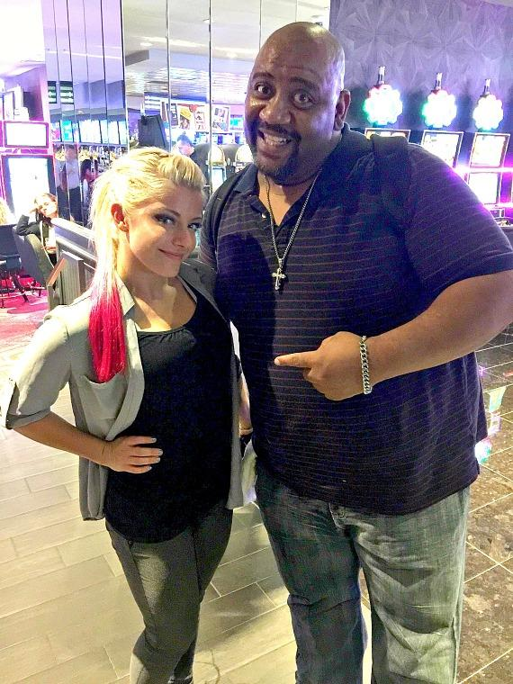 WWE star Alexa Bliss with actor Bubba Ganter at the D Casino Las Vegas