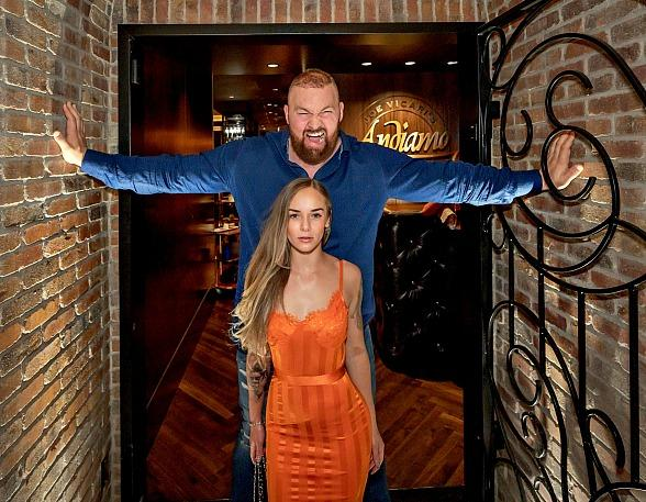 """Game of Thrones' """"The Mountain"""" and Famous Friends Turn Heads at the D Casino Hotel"""