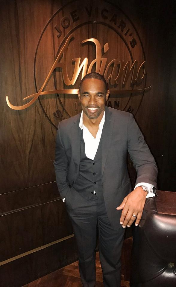 Grey's Anatomy star Jason George and Bachelor in Paradise's Jesse Kovacs spotted dining at Andiamo Steakhouse in the D Casino Hotel