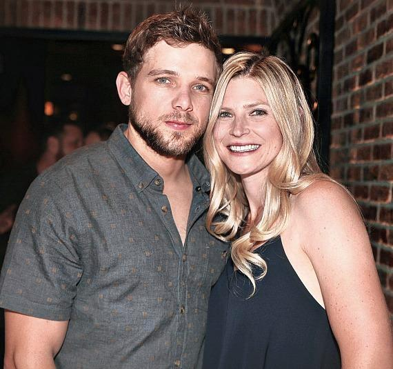 Actor Max Thieriot and wife Lexi Murphy at Andiamo Italian Steakhouse Las Vegas