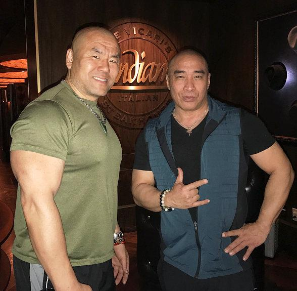 "Vegas' Andiamo Italian Steakhouse visited by ""Marco Polo"" Hollywood Actors/Fight Choreographers, Ron Yuan and Woon Young Park"