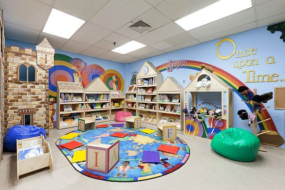 Mario Batali Foundation and Books For Kids to Open New Library for At-Risk Children in Las Vegas August 24 (Pictured: Addie Mae Collins Library created by Books For Kids in New York).