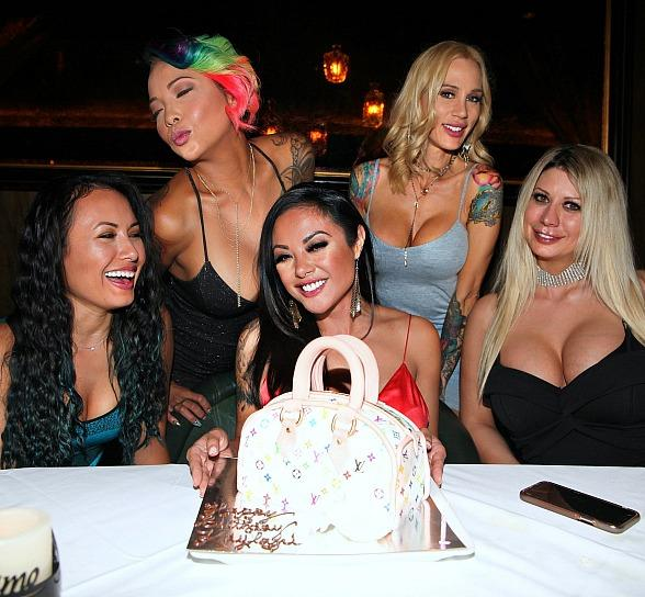 Adult Film Icon, Kaylani Lei, Celebrates Her Birthday at Andiamo Italian Steakhouse With Friends