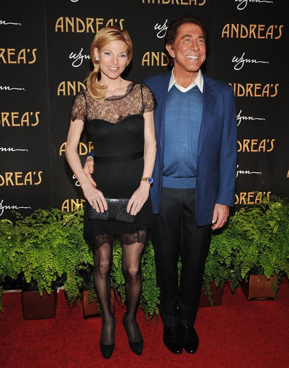 Andrea Hisson and Steve Wynn at Andrea's grand opening in Las Vegas