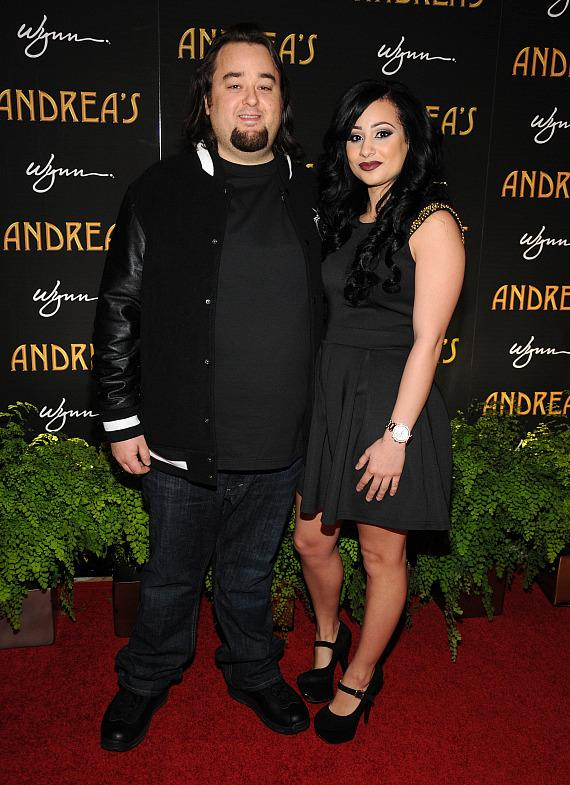 Chumlee and friend at Andrea's grand opening in Las Vegas