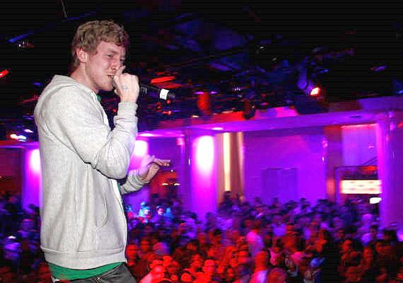 Hip-hop artist Asher Roth performing at PURE Nightclub