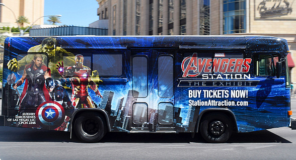 Soar Through the Las Vegas Strip with the Launch of the Marvel Avengers S.T.A.T.I.O.N. Super Hero Shuttle Bus
