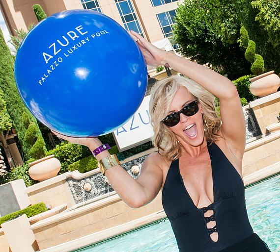 Jenny McCarthy at Azure Luxury Pool