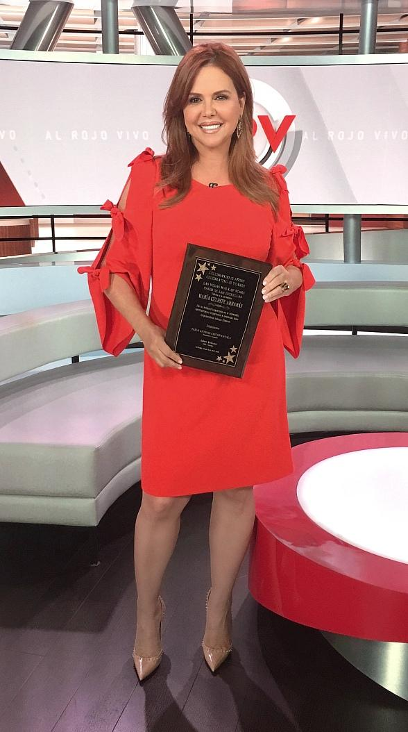 Telemundo Star María Celeste Arrarás Joins Las Vegas Walk of Stars