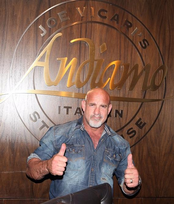 Bill Goldberg dines at Andiamo Italian Steakhouse Las Vegas