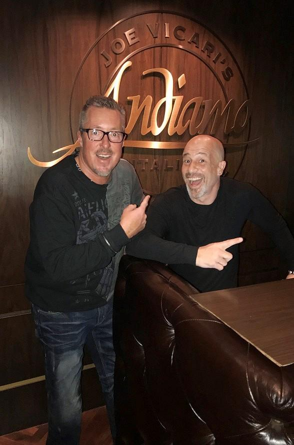 """Tanked"" Star Brett Raymer and Sports Radio Personality Scott Ferrall Dine in Andiamo Italian Steakhouse Las Vegas"