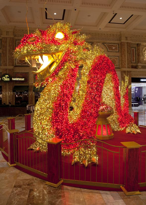 Giant Illuminated Dragon and 20th Annual Meadows School Parade Mark The Forum Shops Celebration of Chinese New Year