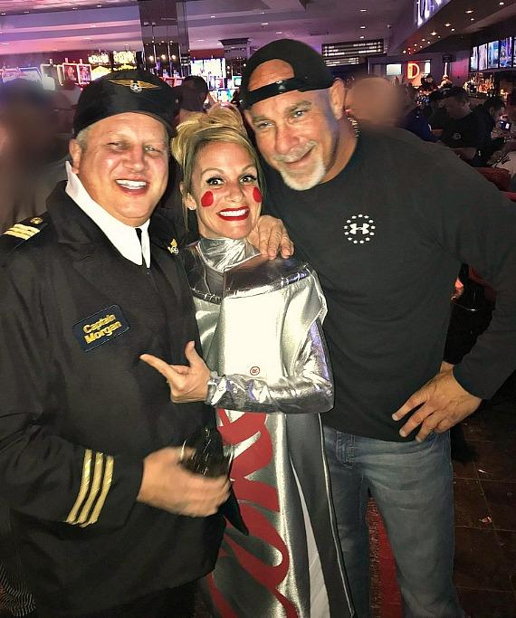 Casino Owner Derek Stevens, his wife Nicole and WWE Icon Bill Goldberg in the D Casino Hotel Las Vegas