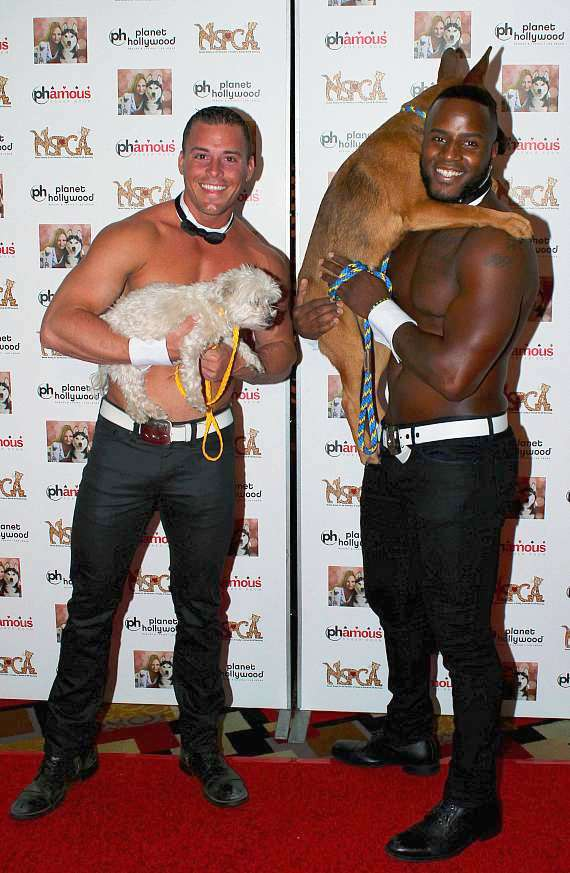 Chippendales dancers at Jennifer Harman NSPCA Poker Tournament at Planet Hollywood Las Vegas