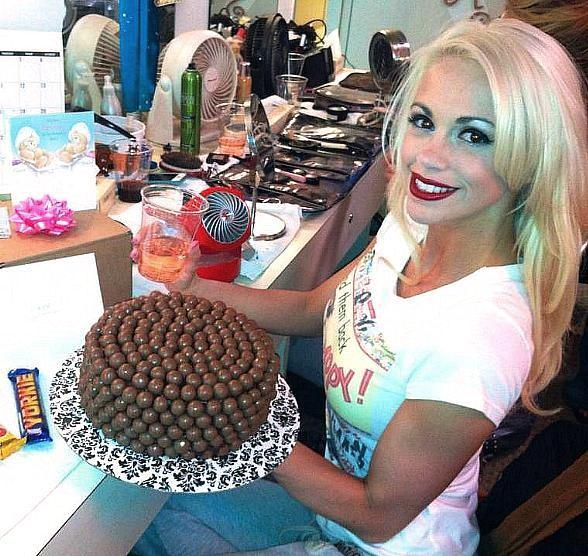 Chloe's birthday cake from Fantasy girls made by Tracey Gittins with British Malteasers