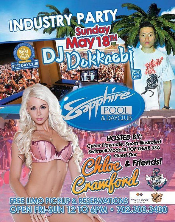 Cyber Playmate, SI Swimsuit Model and Vegas Showgirl Chloe Crawford to Host Sapphire Pool & Day Club May 18