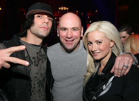 Criss Angel, Dana White and Holly Madison at LAX Nightclub