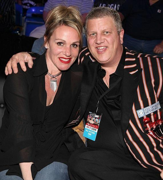 """Derek Stevens and wife Nicole Parthum at """"Knockout Night at the D Las Vegas"""
