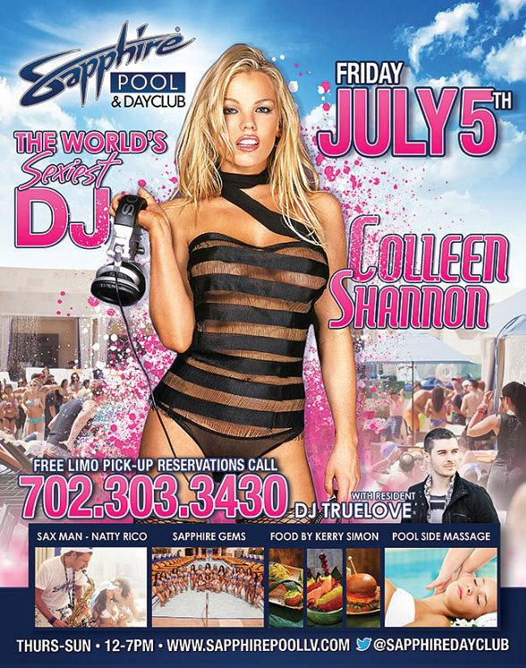 """The World's Sexiest DJ"" Colleen Shannon Spins at Sapphire Pool & Dayclub in Las Vegas July 5"